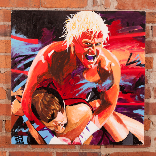Dolph Ziggler Champions Collection Painting by Rob Schamberger