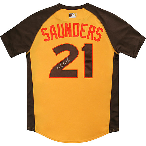 Photo of Michael Saunders 2016 Major League Baseball Workout Day/Home Run Derby Autographed Jersey
