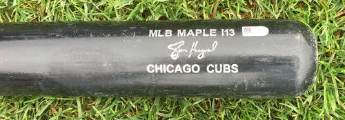 Photo of Jason Heyward Game-Used Bat -- Jerad Eickhoff to Jason Heyward, Top 1st -- Cubs at Phillies -- 6/7/16