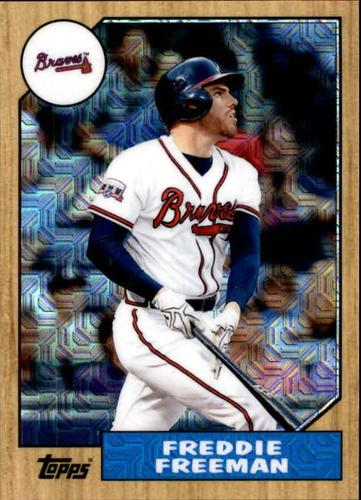 Photo of 2017 Topps '87 Topps Silver Pack Chrome #87FF Freddie Freeman