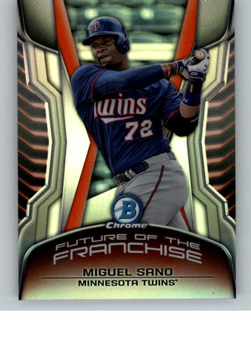 Photo of 2014 Bowman Chrome Draft Future of the Franchise Mini Miguel Sano -- Twins post-season