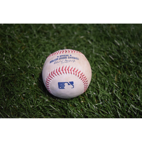 Photo of Game-Used Baseball: Sonny Gray strikes out Corey Dickerson - 9/12/17 at Citi Field v NYY