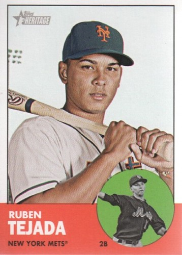 Photo of 2012 Topps Heritage #107 Ruben Tejada