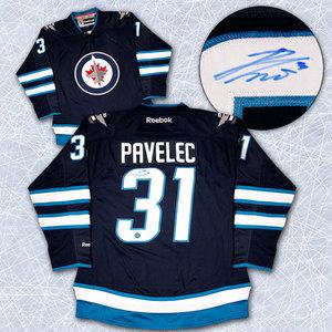 Ondrej Pavelec Winnipeg Jets Autographed 2011 Reebok Premier Hockey Jersey