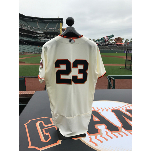 Photo of San Francisco Giants - Home Opening Day Jersey - Game Used - Ron Wotus #23