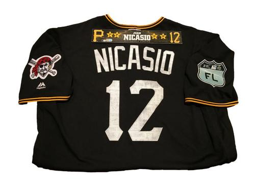 Photo of Juan Nicasio Game-Used Spring Training Jersey and Locker Name Plate