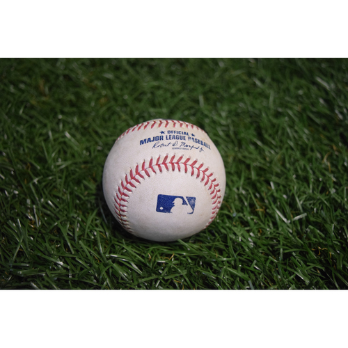 Photo of Game-Used Baseball: Brett Gardner and Chase Headley single off Brad Boxberger - 9/13/17 at Citi Field v NYY