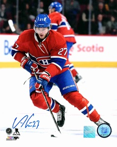 Alex Galchenyuk - Signed 8x10 Montreal Canadiens Red Action