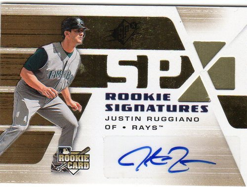 Photo of 2008 SPx #140 Justin Ruggiano AU RC