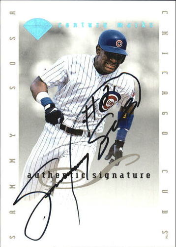 Photo of 1996 Leaf Signature Extended Autographs Century Marks #28 Sammy Sosa