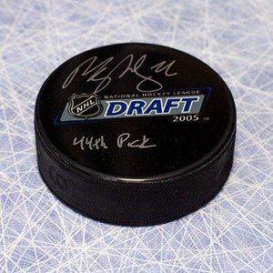 Paul Stastny 2005 NHL Draft Day Puck Autographed W/ 44th Pick Inscription *St. Louis Blues*