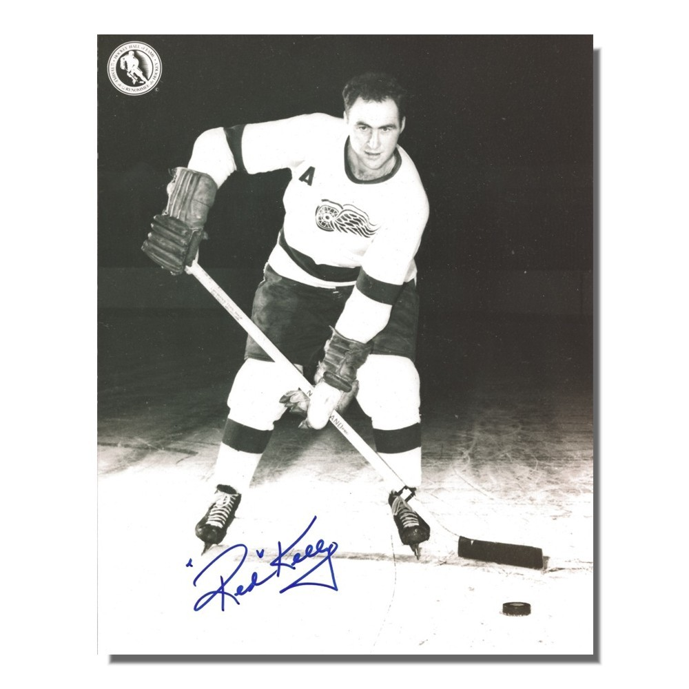 Red Kelly Autographed Detroit Red Wings 8x10 Photo