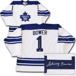 Johnny Bower Autographed Toronto Maple Leafs Jersey