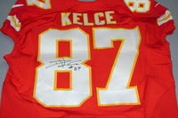 CHIEFS - TRAVIS KELCE SIGNED AUTHENTIC CHIEFS JERSEY - SIZE 44