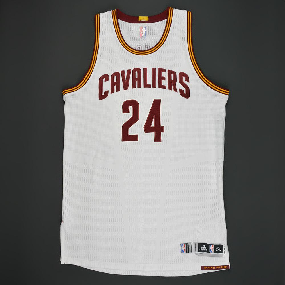 Richard Jefferson - Cleveland Cavaliers - White Playoffs Game-Worn Jersey - 2016-17 Season