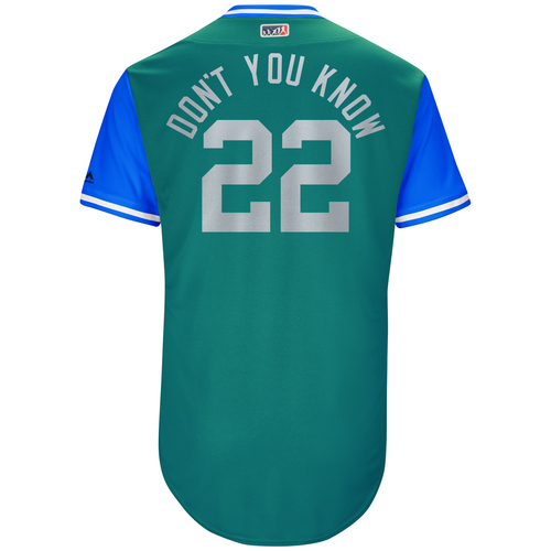 """Photo of Robinson """"Don't You Know"""" Cano Seattle Mariners Game-Used Players Weekend Jersey"""