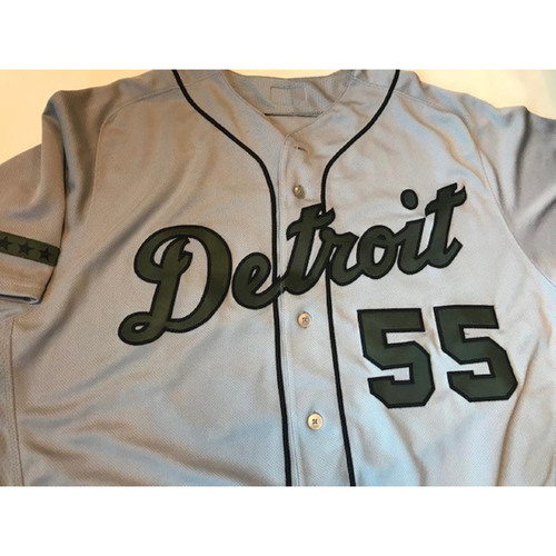 Photo of Game-Used Memorial Day Jersey: John Hicks