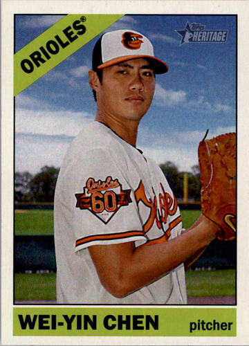 Photo of 2015 Topps Heritage #272 Wei-Yin Chen