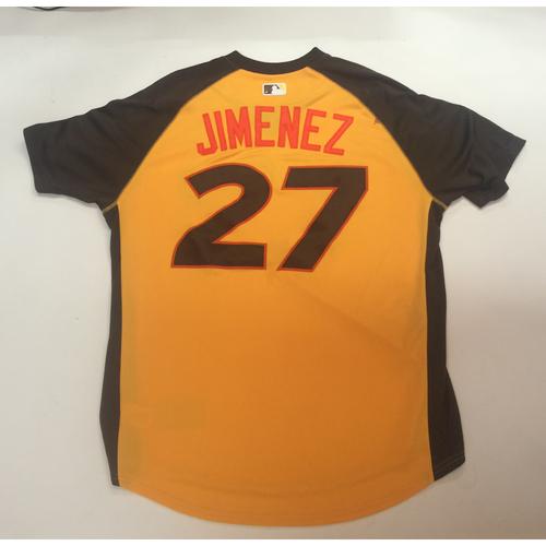 Photo of 2016 All-Star Futures Game Auction - Jimenez (Eloy) #27 World Batting Practice Worn Jersey