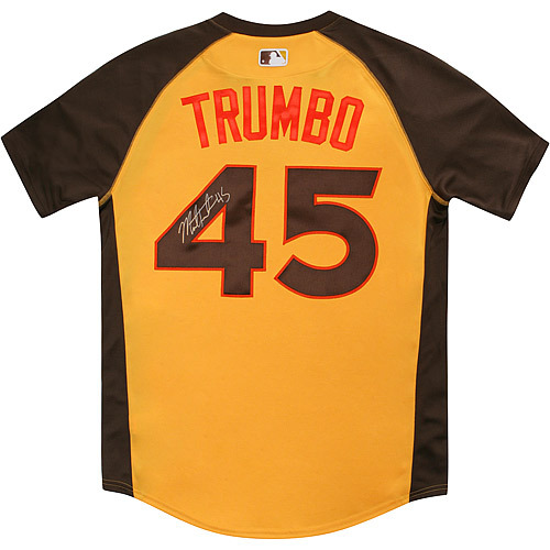 Photo of Mark Trumbo 2016 Major League Baseball Workout Day/Home Run Derby Autographed Jersey