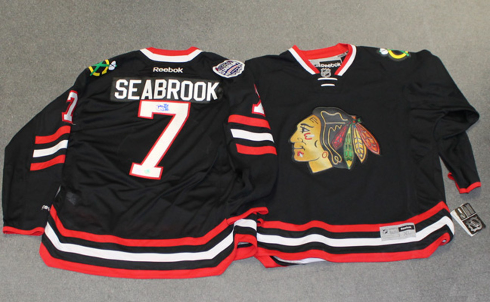 BRENT SEABROOK Autographed Chicago Blackhawks 2014 Stadium Series Premier Jersey