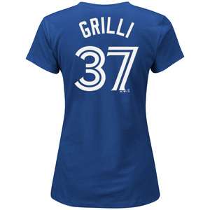 Women's Jason Grilli Player T-Shirt by Majestic