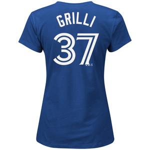 Women's Jason Grilli Player T-Shirt by Majestic