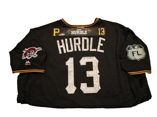 Photo of Clint Hurdle Game-Used Spring Training Jersey and Locker Name Plate