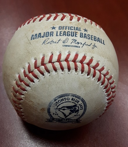 Photo of Authenticated Game Used Baseball (Apr 27, 2016) - Brett Lawrie Ground Out vs Marco Estrada (CWS vs TOR)
