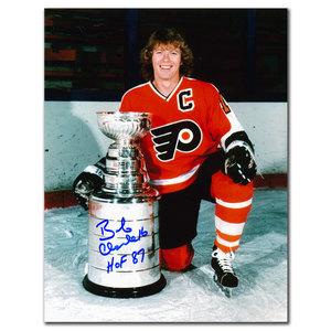 Bobby Clarke Philadelphia Flyers HOF Stanley Cup Autographed 8x10
