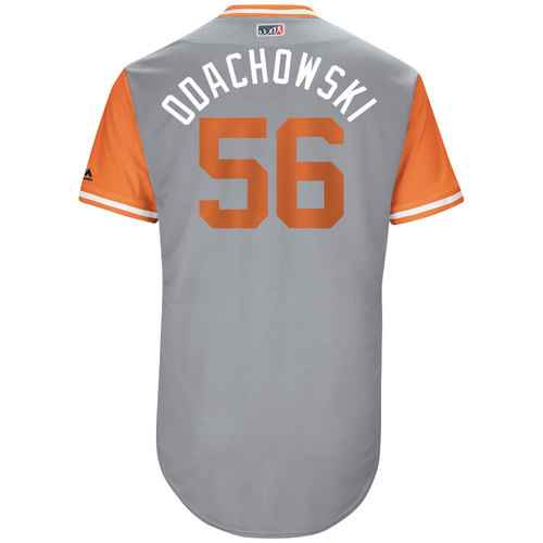 "Photo of Darren ""Odachowski"" O'Day Baltimore Orioles Game-Used Players Weekend Jersey"
