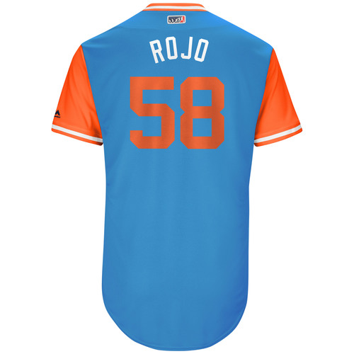 "Photo of Dan ""Rojo"" Straily Miami Marlins Game-Used Players Weekend Jersey"