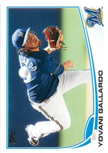 Photo of 2013 Topps #149 Yovani Gallardo