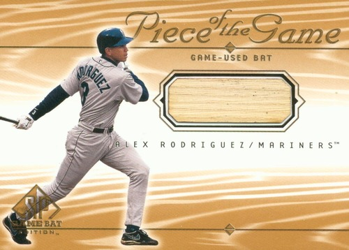 Photo of 2001 SP Game Bat Edition Piece of the Game #AR Alex Rodriguez