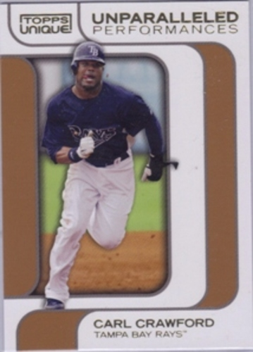 Photo of 2009 Topps Unique Unparalleled Performances Bronze #UP06 Carl Crawford