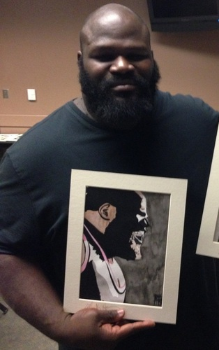 Mark Henry Signed Painting by Rob Schamberger