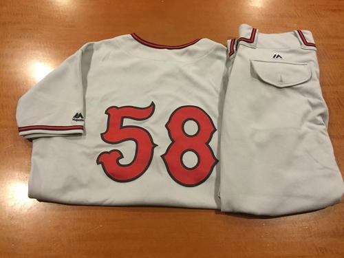 Photo of Dan Straily Game-Used Cincinnati Tigers Uniform
