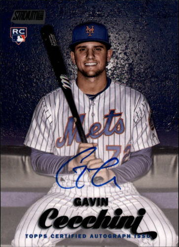Photo of 2017 Stadium Club Autograph Black Foil #SCAGC Gavin Cecchini RC AUTO 24/25