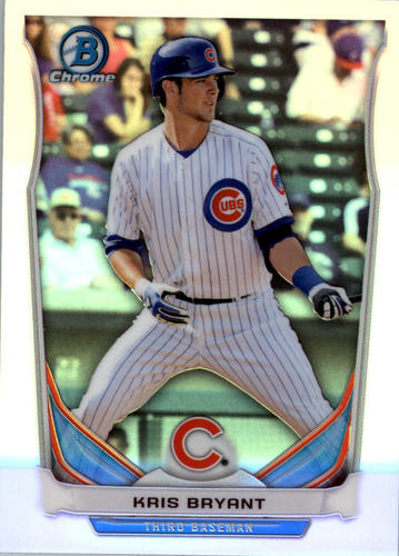 Photo of 2014 Bowman Chrome Draft Top Prospects Refractors #CTP62 Kris Bryant Cubs post-season