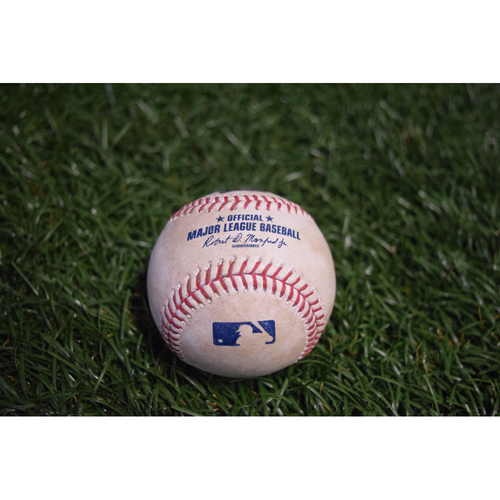 Photo of Game-Used Baseball: James Hoyt strikes out Steven Souza Jr. - 4/22/17 v HOU