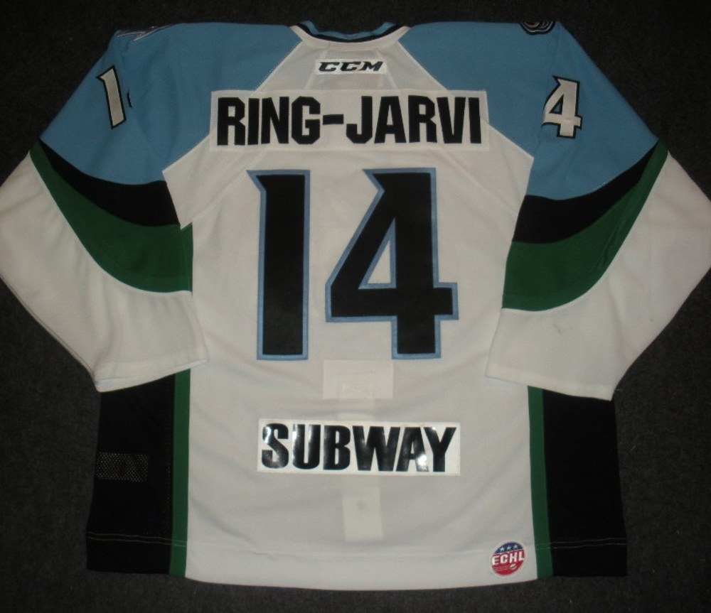 Ross Ring-Jarvi - 2014 Kelly Cup Finals - Alaska Aces - White Game-Worn Jersey - Games 1 & 2