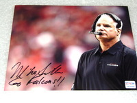 FALCONS - HEAD COACH MIKE SMITH SIGNED 8X10 PHOTO
