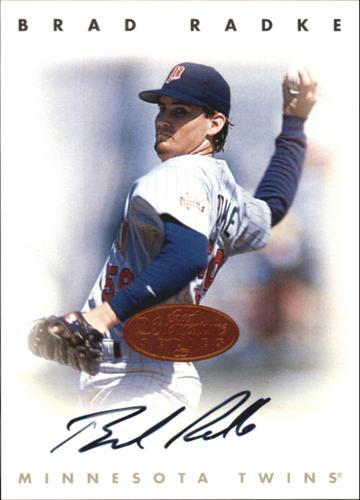 Photo of 1996 Leaf Signature Autographs #188 Brad Radke