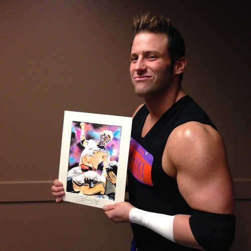 Zack Ryder Signed Painting by Rob Schamberger