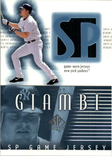 Photo of 2002 SP Authentic Game Jersey #JJGR Jason Giambi