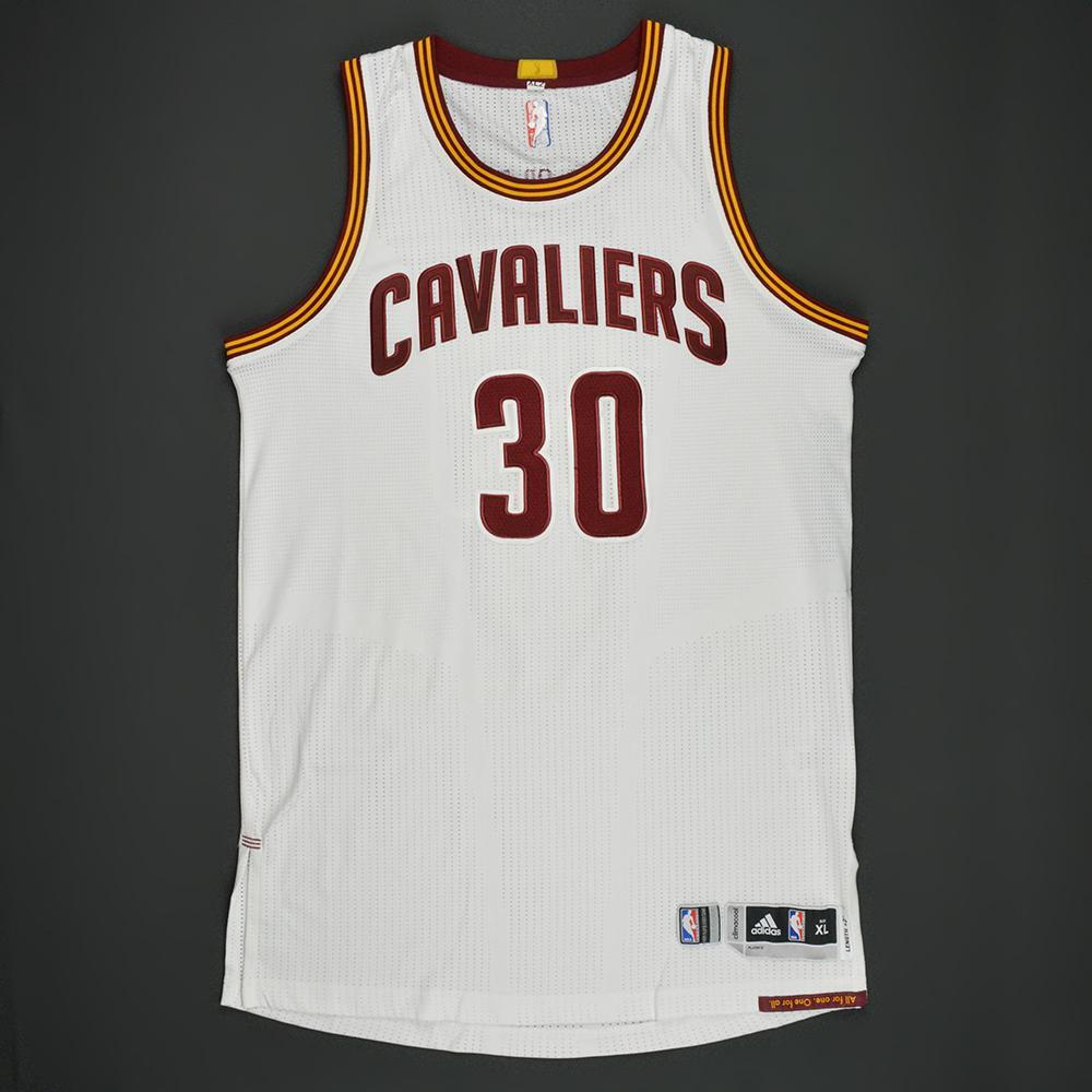 Dahntay Jones - Cleveland Cavaliers - White Playoffs Game-Worn Jersey - Dressed, Did Not Play - 2016-17 Season