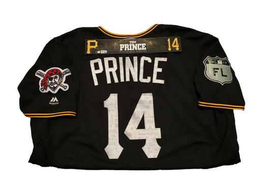 Photo of Tom Prince Game-Used Spring Training Jersey and Locker Name Plate