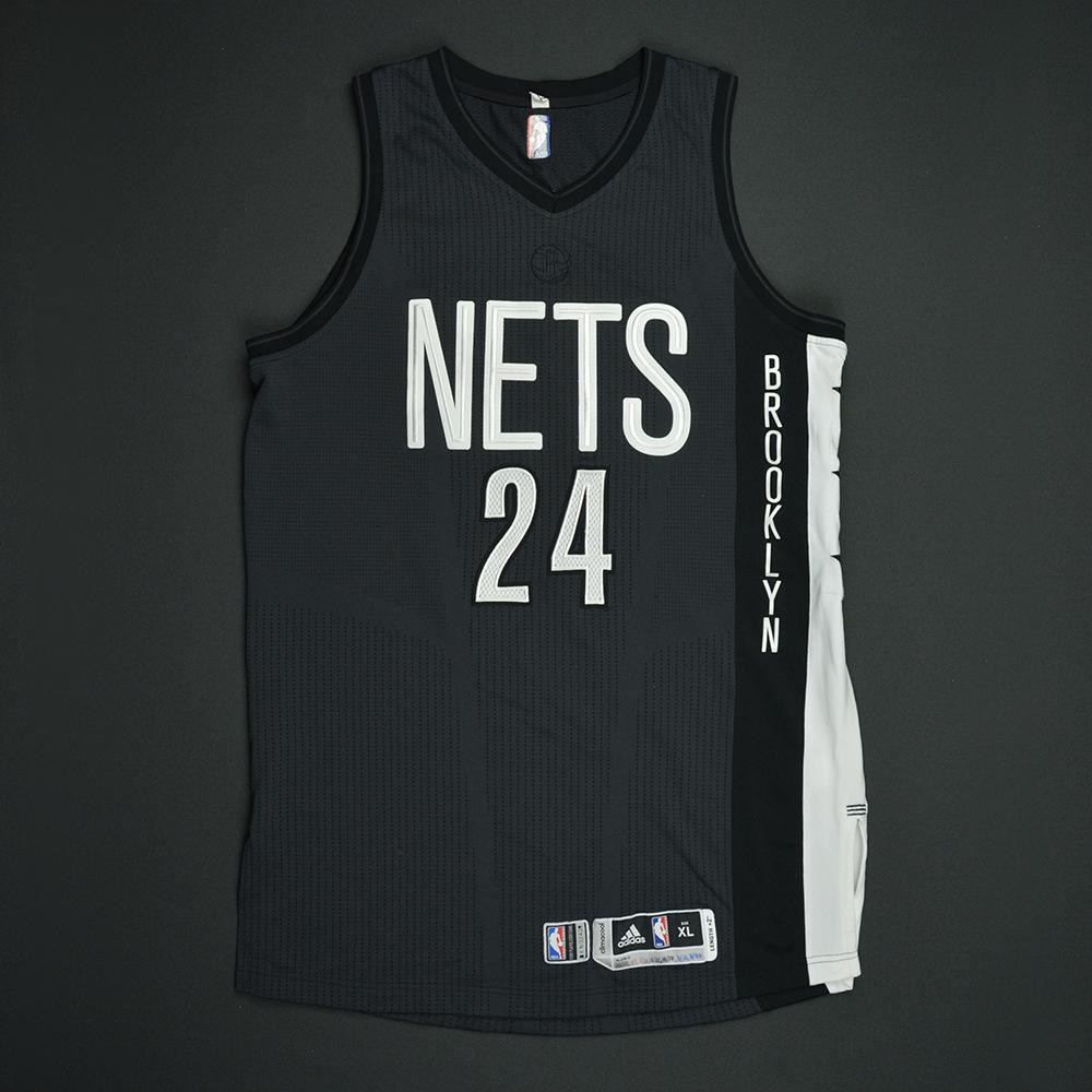 Rondae Hollis-Jefferson - Brooklyn Nets - Game-Worn Black Alternate Jersey - 2016-17 Season