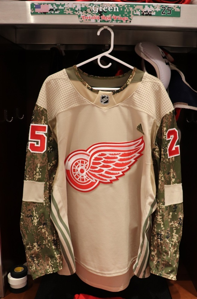 Mike Green (#25) Military Appreciation Night Warm-Up Set