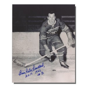 Emile Bouchard Autographed Montreal Canadiens 8x10 Photo